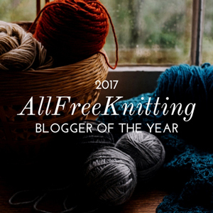 AllFreeKnitting Blogger of the Year 2017 graphic