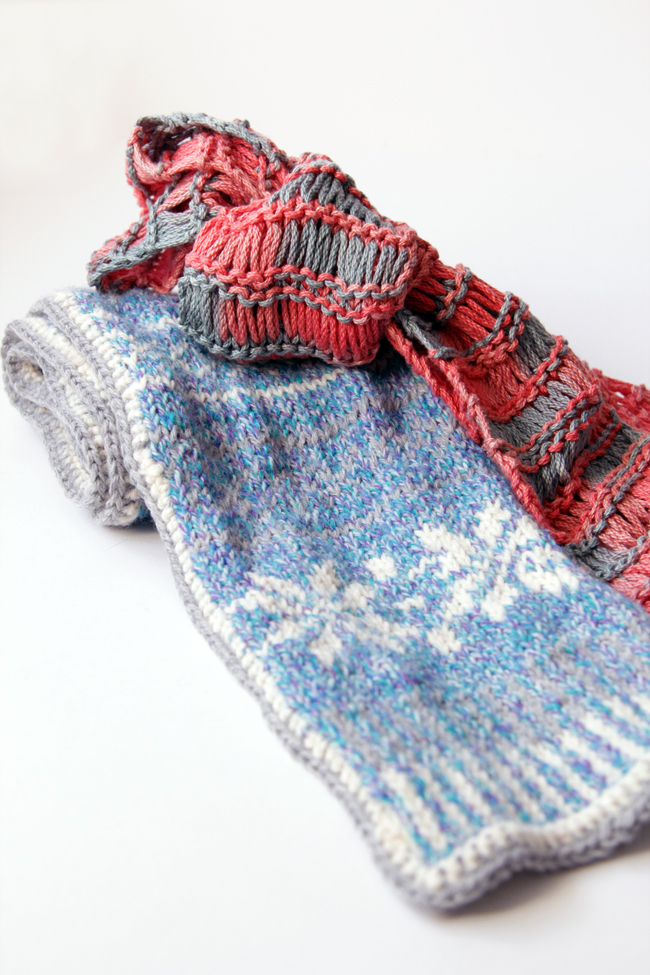 Some of Heidi Gustad's high school knitting projects.