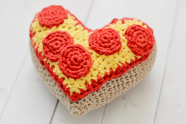 Heart Shape Pizza Amigurumi by Mary Ann Casteel