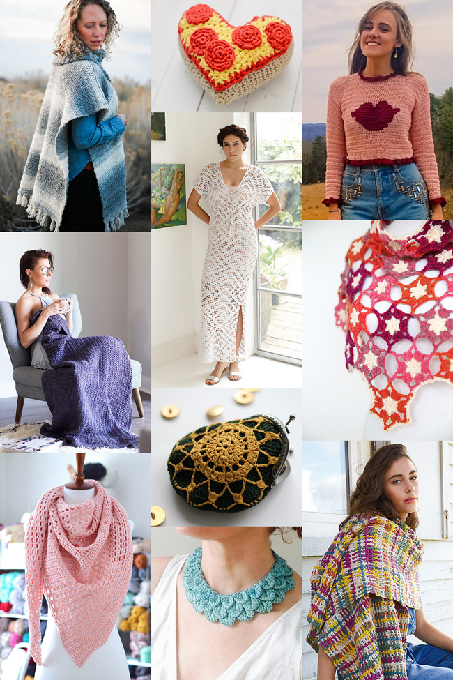 Ten new patterns to crochet, February 2018.