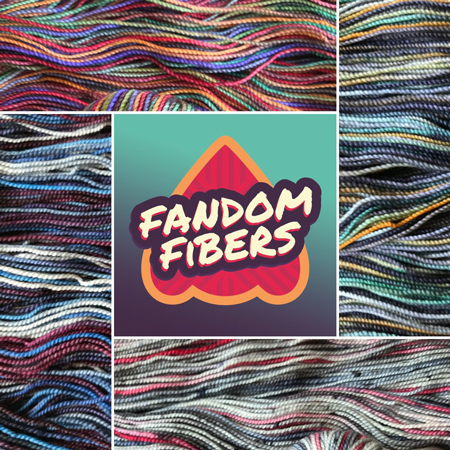 Inspired by pop culture, Fandom Fibers celebrates the fandom community through hand dyed yarns, and custom kits. We have collaborated with Rhichard Devrieze to bring you the best yarns to celebrate your favorite characters, books, movies, and TV series.