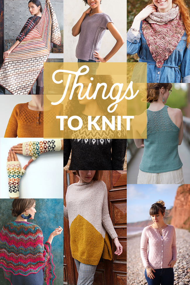 It's layering season! Check out ten of the best new knitting patterns for spring 2018. (Click through for all pattern links & sources.)
