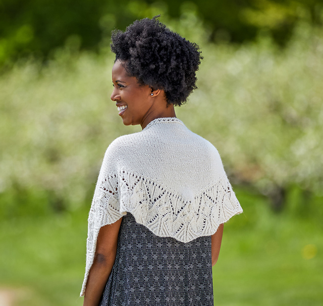 Ansonia Shawl pattern by Tian Connaughton from Vacation Knits Vol. 2
