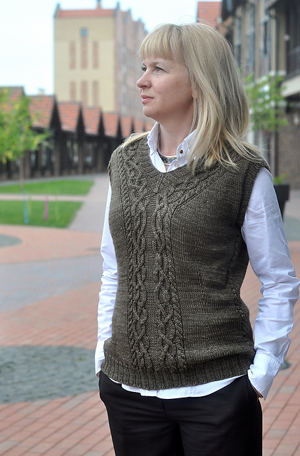 Ladie's Old College Club Vest by Pelykh Natalie