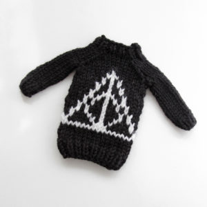 Mini Magic Symbol Sweater by Heidi Gustad, designed as part of Fandom Fibers' inaugural collection.