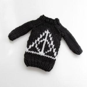 Mini Magic Symbol Sweater by Heidi Gustad, designed as part of Fandom Fibers' inaugural collection.