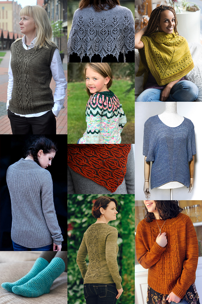 Spring doesn't mean that the weather will always cooperate - cast on one of these ten new patterns to keep cozy!