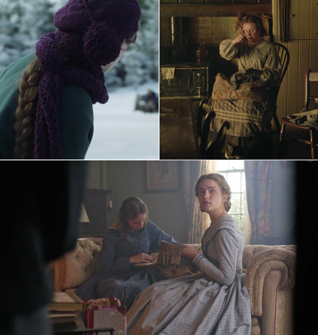 Knitflix suggestion: Little Women (2018) follows the March family during the Civil War as four sisters grapple with growing up and finding themselves.