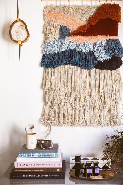 DIY Latch Hook Wall Hanging via Honestly WTF
