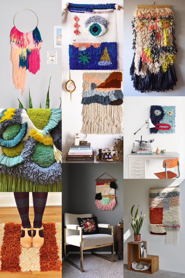Latch hook is back! Check out 9 inspiring ideas for a contemporary take on this shaggy, well-loved craft.