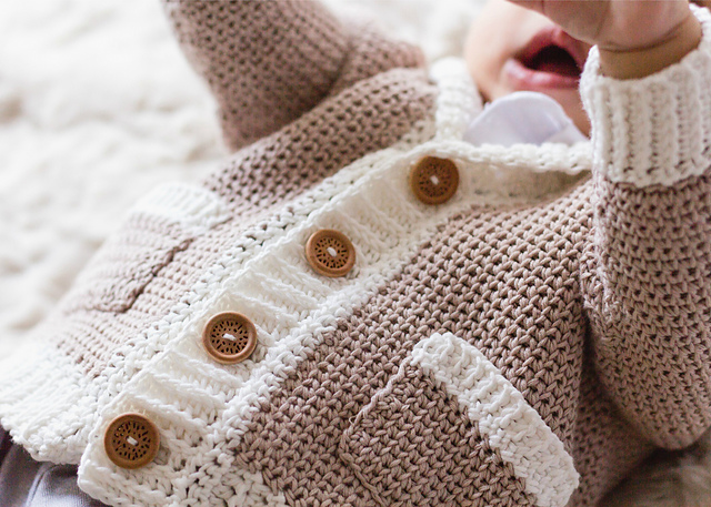 """Little Opa"" Grandpa Cardigan by Olivia Kent"