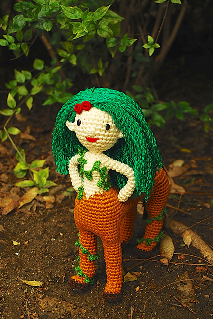 Gaia, the forest centaur doll by Crafteando