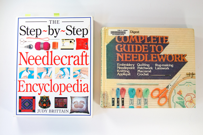 Two classic needlecraft books filled with great, in-depth instructions for making latch hook projects (and more)! The Step-by-Step Needlecraft Encyclopedia by Judy Brittain & the Reader's Digest Complete Guide to Needlework