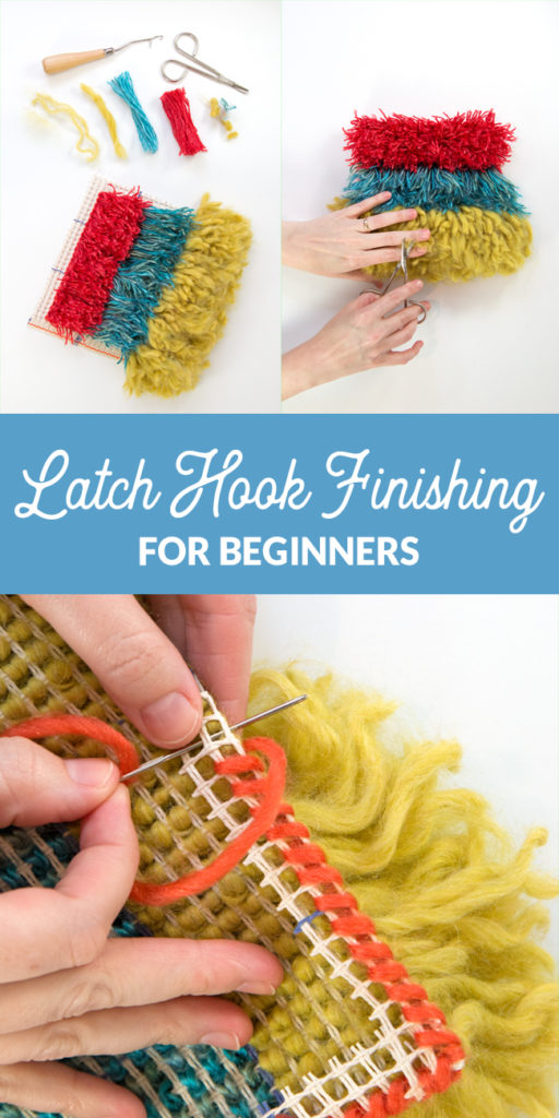 You've mastered latch hook basics, and now it's time to make your project to a finished handmade masterpiece! Learn basic latch hook project finishing with this easy tutorial.