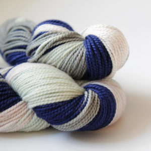 Two skeins of yarn.
