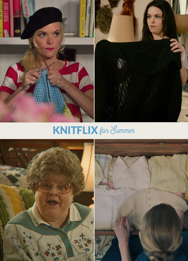 It's summertime, which means that it's the perfect time to binge watch shows online while cranking out our favorite knit and crochet projects on long, hot days. Here are 4 great picks & how they rate in terms of representing knit & crochet. :)