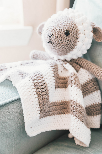 Little Lamb Baby Lovey by Ashleigh Kiser