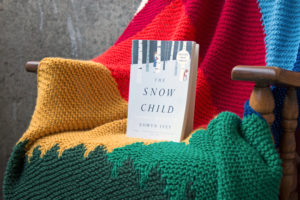 The fall 2018 Read Along Knit Along features the Intarsia Mountain knitting pattern by Heidi Gustad and the book The Snow Child by Eowyn Ivey.