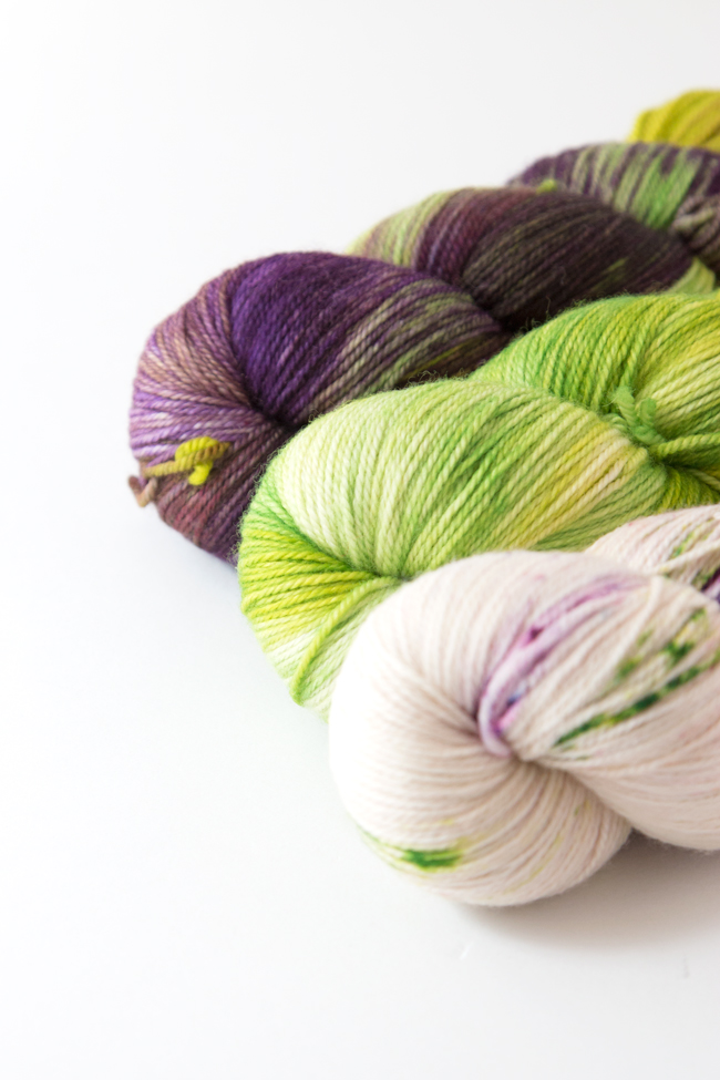 Zen Yarn Garden's gorgeous, hand-dyed Color Bundles are so easy to work with. Dyed to order, these 3 skein sets are designed to compliment each other and flow together effortlessly. Click through to learn more and enter to win an entire Zen Yarn Garden Color Bundle for your next knitting or crochet project.