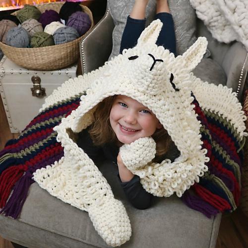 Alpaca my Llama Blanket by MJ's Off The Hook Designs