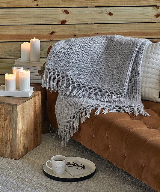 Cozy Time Fringe Throw by Salena Baca