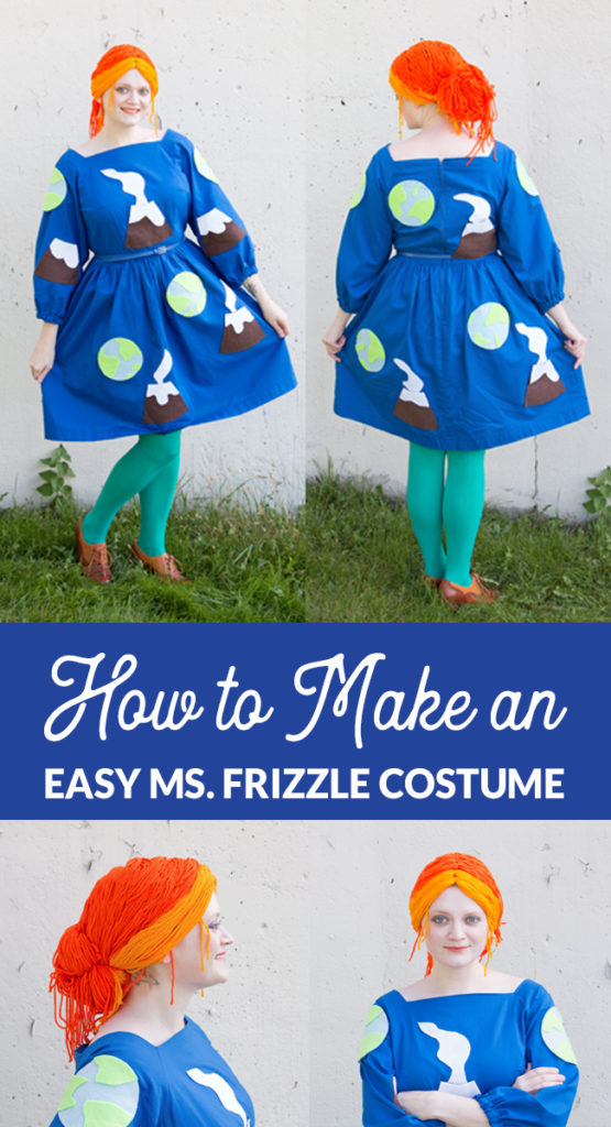 Make a quick and easy Ms. Frizzle costume from The Magic School Bus. Perfect for Halloween or comic con! No sewing, knitting or crocheting skills required. Click through for the how-to.