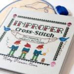 A peek inside Improper Cross-Stitch by Haley Pierson-Cox