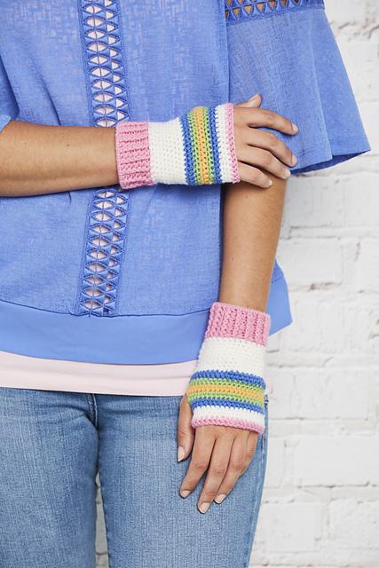 Seaside Candy Wrist Warmers by Zoë Potrac