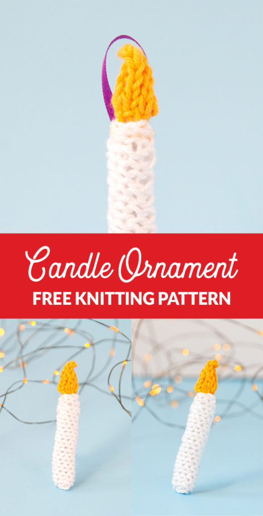 The Knit Candle Ornament can easily be knit in under an hour, making it the perfect little finished object to shoe horn in during the busy Christmas season. Get the free pattern to light up your holiday!