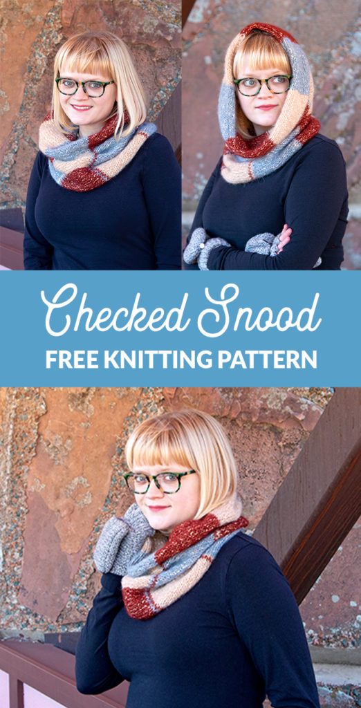 Knit yourself a quick cowl that doubles as a hood - a snood! The Checked Snood is a colorful, geometric knitting pattern that uses 3 colors of Berroco Brielle to create a stunning, versatile accessory you'll wear from fall to spring. Bonus: it's a free pattern!