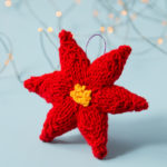 Knit Poinsettia Ornament