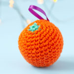 Crochet Orange Ornament