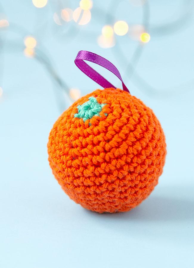 Crochet Orange Ornament