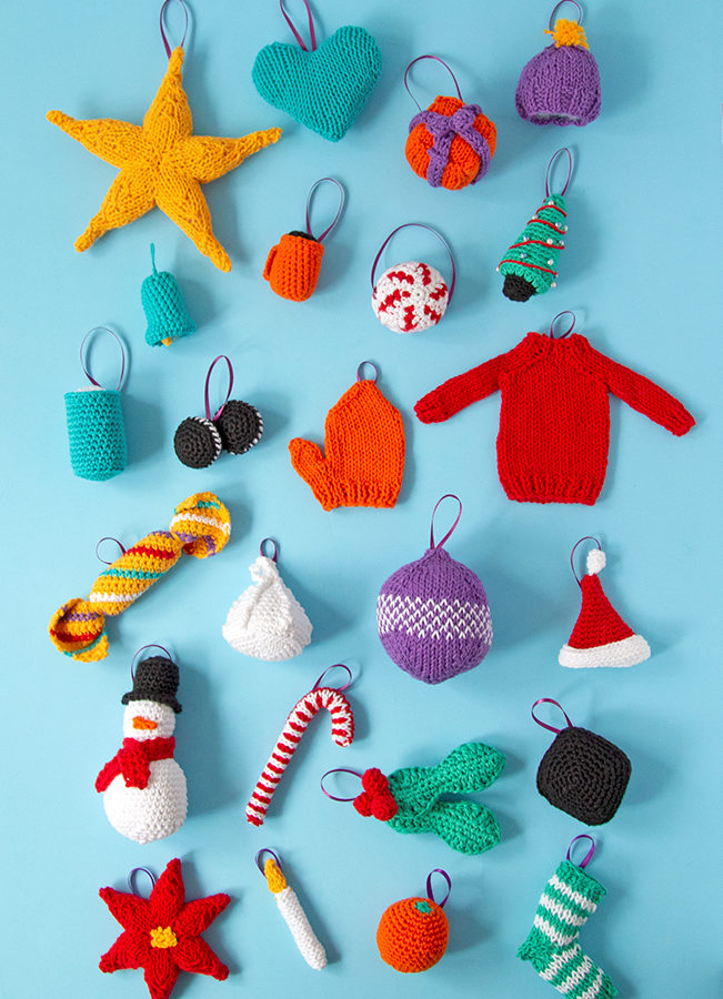 Knit or crochet some adorable ornaments to trim your tree! Get your hands on 12 free knit and crochet patterns for Christmas ornaments. Each ornament doubles as a great gift topper or stocking stuffer!