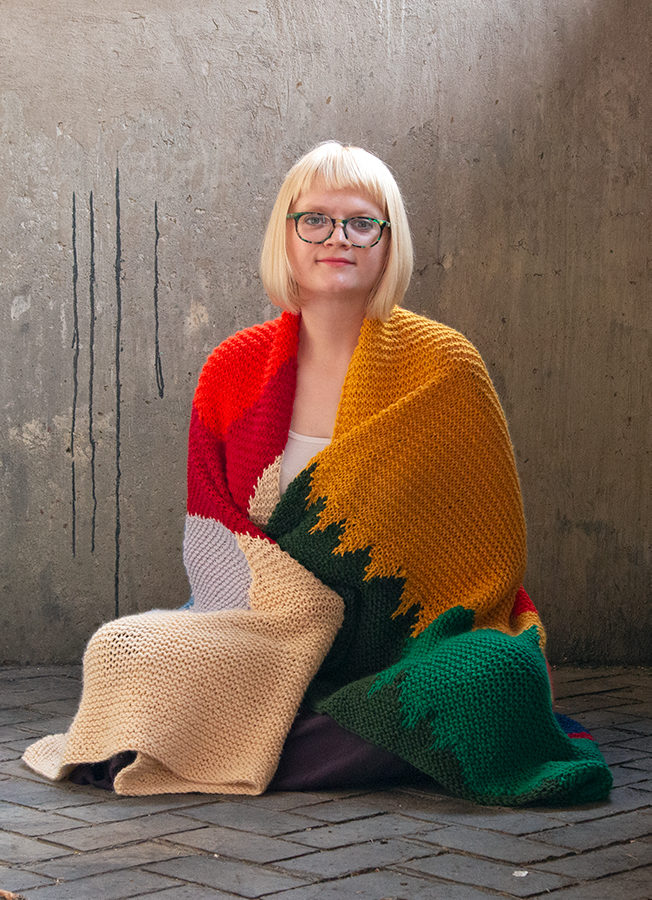 Intarsia Mountain, a knitting pattern designed by Heidi Gustad