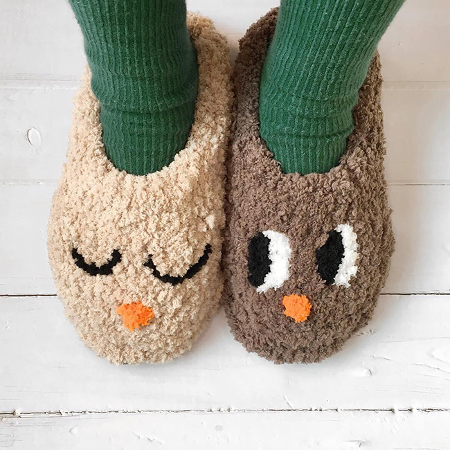 Punch Needle Slippers by Studio Myome