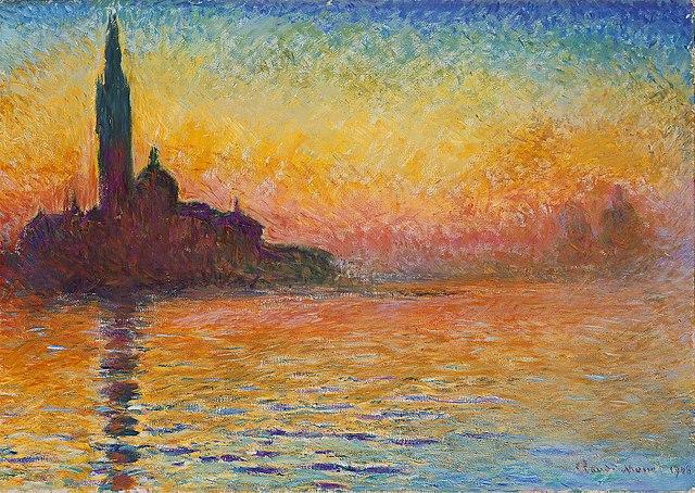 Claude Monet's San Giorgio Maggiore at Dusk