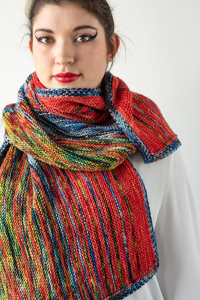 Faded Flare Wrap by Heidi Gustad, Photo Credit: Gale Zucker Photography for Zen Yarn Garden