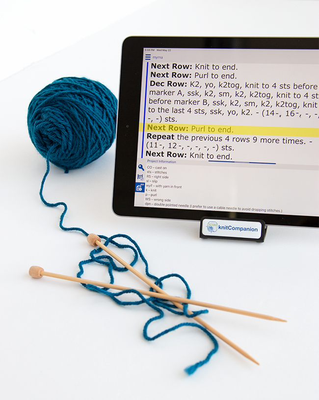 Get to know knitCompanion, the app that lets you knit more & frog less!