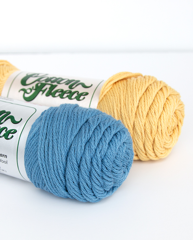 Cotton Fleece Yarn from Brown Sheep Company is versatile and durable with an 80/20 mix of cotton and wool. Great for baby knitting and crochet projects, dish cloths, and more!