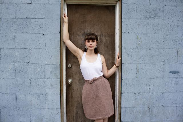 Marigold Skirt knitting pattern by Morgan Woltersdorf