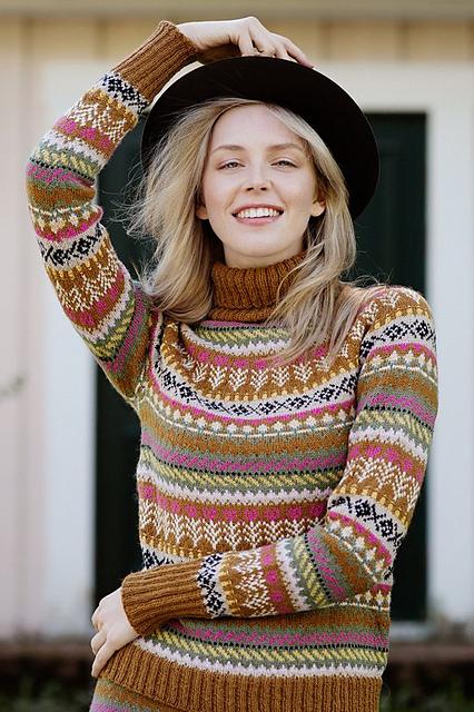 Pohjolan kutsu sweater knitting pattern by Sisko Sälpäkivi