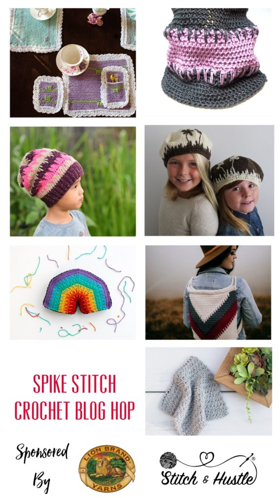 Crochet spike stitch blog hop - free Patterns