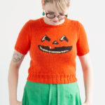 Smiling Jack-o'-Lantern Knitting Chart for Halloween