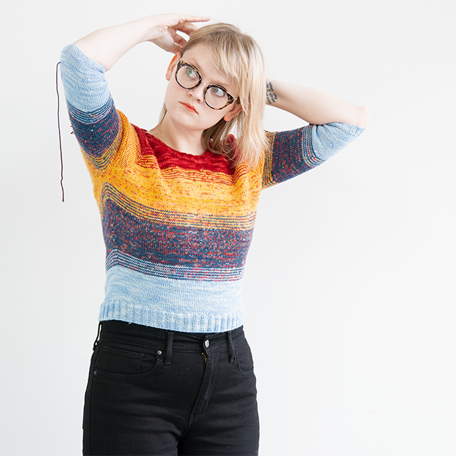 HandsOccupied's take on the So Faded sweater by Andrea Mowry