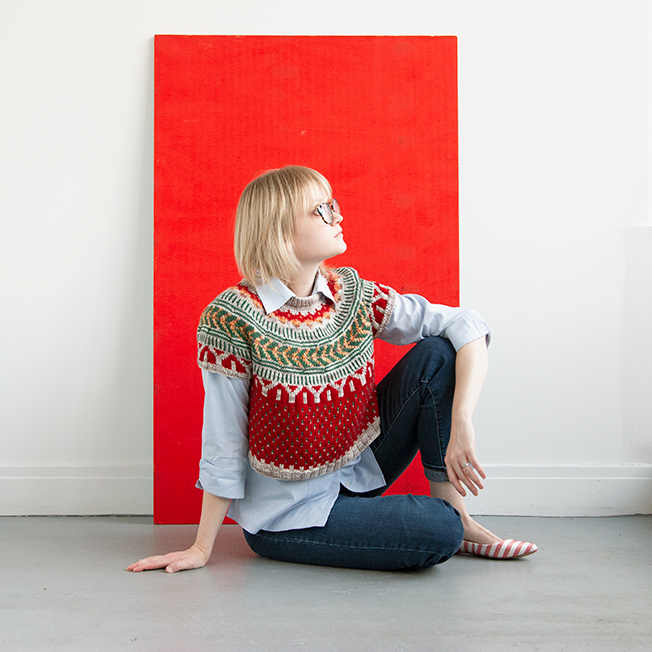 Read about one knitter's Christmas inspired take on the Soldotna Crop sweater pattern by Caitlin Hunter, including tips for customizing for fit!