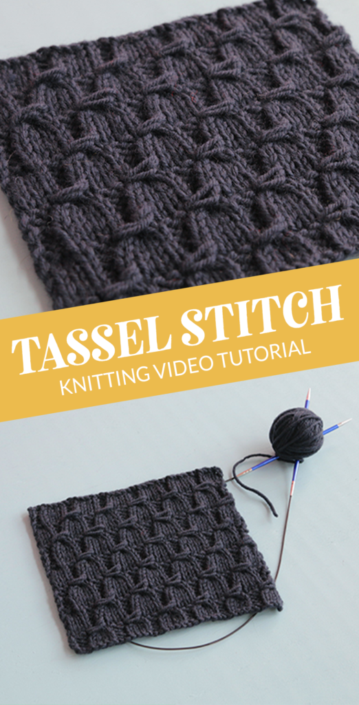 Heidi from Hands Occupied walks you through how to knit the tassel stitch.