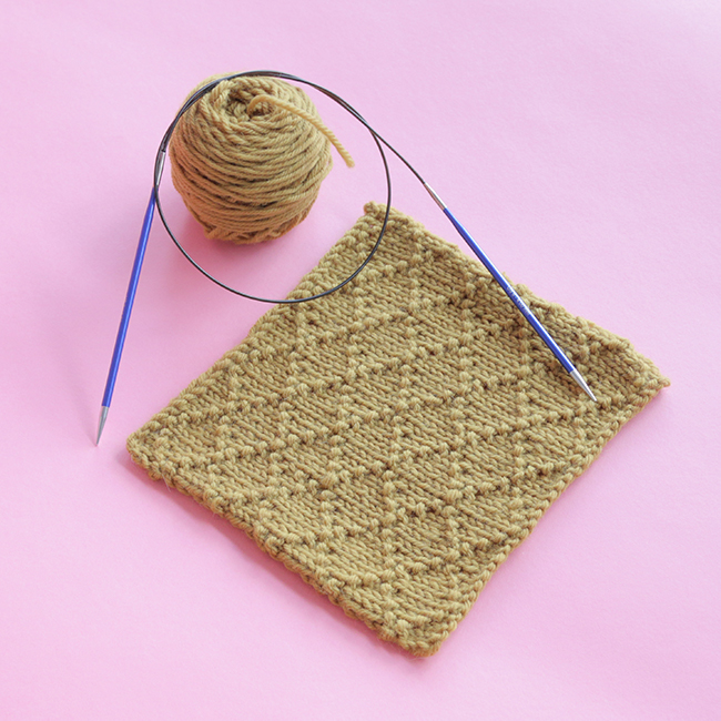 Heidi from Hands Occupied walks you through how to knit the beautiful Diamond Brocade Stitch. This stitch has a clear right side and is worked over 8 rows.
