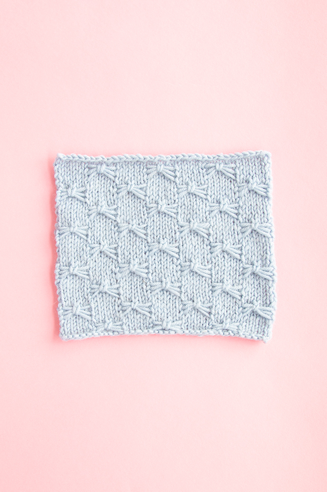 The Little Butterfly Stitch adds so much character to simple stockinette. Only a little funky to knit, and it packs a huge visual punch!