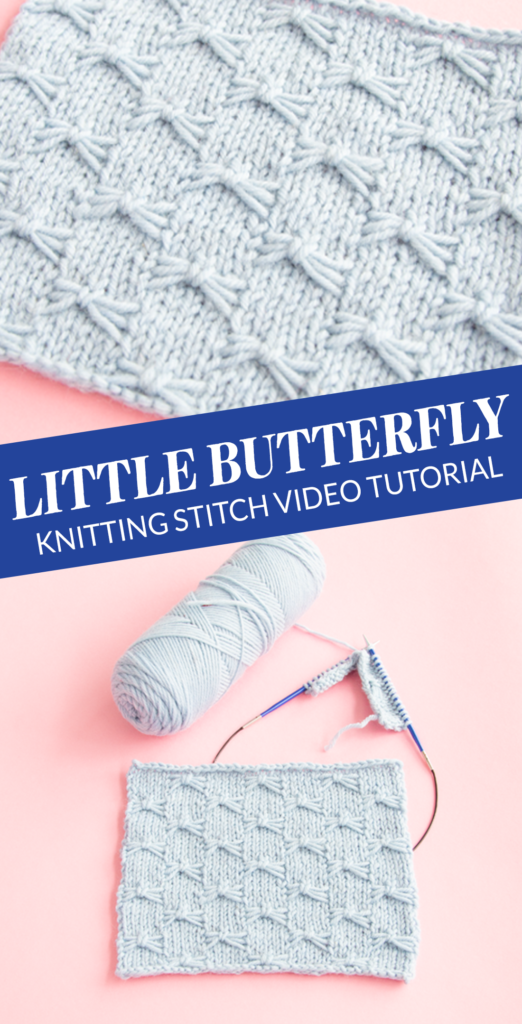 The Little Butterfly Stitch adds so much character to simple stockinette. Only a little funky to knit, and it packs a huge visual punch! Heidi from Hands Occupied walks you through how to knit an adorable stitch known by two names: Little Butterfly or Bowknot Stitch.